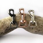 Metal Fittings for Dog collar in black rose gold and silver