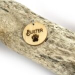 Dog Pet ID Tag Wooden